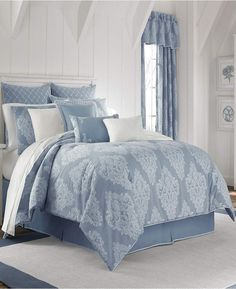 Piper & Wright Ansonia Blue King Comforter Set Bedding. Light blue bedding for a calming and relaxing mood. #lightbluebedding #bluebedding #beddingsets #guesthouse #afflnk
