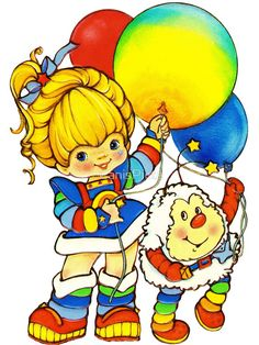 Childhood Images, Childhood Memories, 1st Birthday Girls, Rainbow Birthday, Kawaii Room, Rainbow Aesthetic, Rainbow Brite, Baby Cartoon, Some Fun