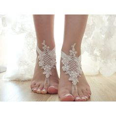 Pink Ivory Beaded Bridal Anklet Beach Shoes Bridal Sandals Bridal... ($25) ❤ liked on Polyvore featuring shoes, sandals, barefoot sandals, black, women's shoes, black beaded sandals, bridal sandals, black shoes, black sandals and lace-up sandals