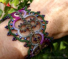 (11) Name: 'Other : Linnea Bracelet in Pearl Tatting