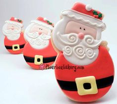 Roly Poly Santa from snowman cookie cutter