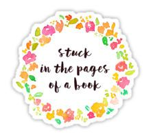 Stuck in the Pages of a Book Sticker Laptop Stickers, Sticker Design, Nerd, Book, Things To Sell, Otaku, Geek, Book Illustrations, Books