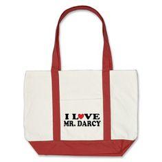 I Love Mr. Darcy Book Tote Bag. NEED! <3
