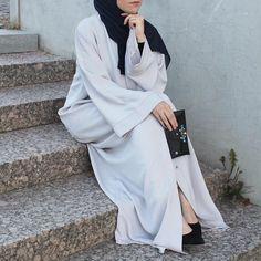 Abaya Pattern, Modern Abaya, Abaya Fashion, Abayas, Woman, Elegant, Simple, Womens Fashion, Outfits