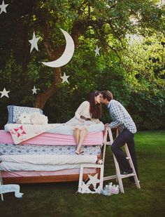 The princess and the pea #engagement photo.
