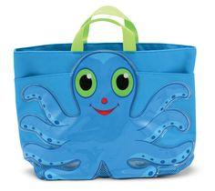 Flex Octopus Beach Tote Bag