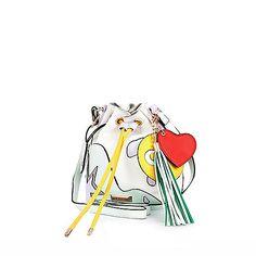 White tassel mini bucket bag - shoulder bags - bags / purses - women
