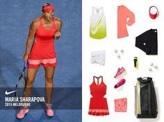 Maria Sharapova habillée pour l'Open d'Australie. La Russe verra la vie en rose à Melbourne Park