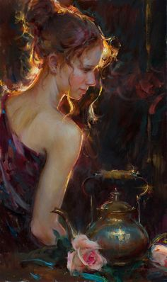 Falling Tendrils ~ 30 x 18 oil by Daniel Gerhartz (at Meyer Gallery July 2015)