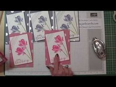 Stampin' Up! Lotus Blossom Card and Watercoloring Technique Video Tutorial - YouTube