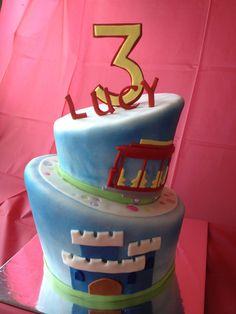 Topsy Turvy Daniel Tiger Cake