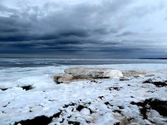 A picture of Melmerby Beach, Pictou County, NS  Canada on a very cold winter day.
