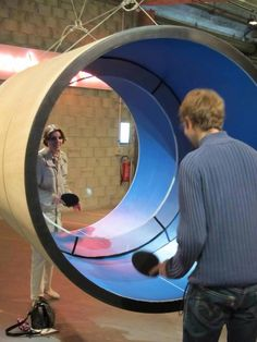 Ping pong in a tube