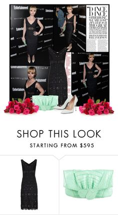 """""""2016 Entertainment Weekly Pre SAG Awards Party~ Christina Ricci"""" by snugget9530 ❤ liked on Polyvore featuring Marc Jacobs, Nancy Gonzalez, Stuart Weitzman, women's clothing, women, female, woman, misses and juniors"""