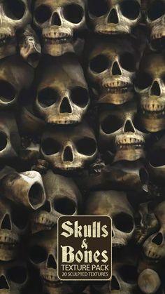 20 Seamless #Skull and #Bones #Textures and Materials for your games. These textures contains sculpted skulls and bones combined with mud, sand, water, snow and rocks. Perfect to integrate in catacombs, crypts, caverns, deserts, cemeteries or dystopian #environment. Package Content: - 3 Mass Grave textures - 3 variations of Skulls and Bones combined with mud, sand, water, snow and rocks. - 1 mud texture - 1 sand texture - 1 snow texture Unity 3D game asset Unity 3d Games, Snow And Rock, Snow Texture, Catacombs, Game Assets, Skull And Bones, Mud, Skulls, Deserts
