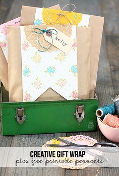 DIY Crafts - Super cute and creative Gift Wrap Idea by livelaughrowe.com