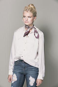 Marsala Batik silk neckerchief heathercampbelltextiles.com