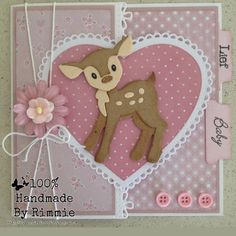 Handmade By Rimmie 16th Birthday Card, Birthday Cards For Friends, Baby Girl Cards, New Baby Cards, Tarjetas Pop Up, Marianne Design Cards, Disney Cards, Shower Bebe, Baby Shower Cards