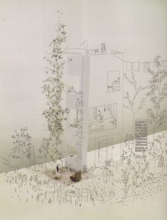 a magical land : art & architecture : the drawings and fantasies of junya ishigami : japan – openhouse Art Et Architecture, Architecture Graphics, Architecture Visualization, Arch Model, Beautiful Drawings, Beautiful Pictures, Photomontage, Planer, Sketches