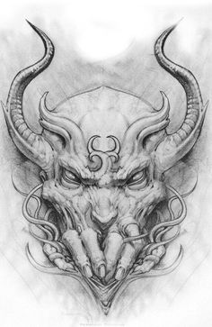 ♠♠ Evil Tattoos, Skull Tattoos, Body Art Tattoos, Zombie Tattoos, Flash Art Tattoos, Demon Tattoo, Dark Tattoo, Skull Tattoo Design, Tattoo Designs