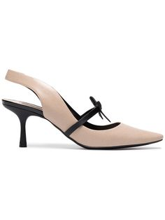 Shop Fabrizio Viti Leather Deneuve 65 slingbacks