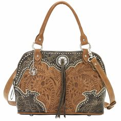 8315163 American West Women's Heart Of Gold Purse - Charcoal