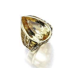 YELLOW SAPPHIRE AND DIAMOND RING, SABBADINI.