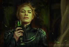 """inna-vjuzhanina: """" Had to paint out the feels! Cersei, you go, girl! GoT completely emotionally destroyed me with the last episode, had to paint it out before it tore me from inside. Many more powerful moments from the last episode, but had time to..."""