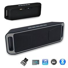 Indigi Grey Portable Bluetooth Wireless Speaker FM Subwoofer Super Bass HIFI Stereo ** Read more reviews of the product by visiting the link on the image.
