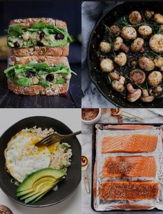 ¡Son deliciosas y fáciles de hacer! Healthy Tips, Healthy Recipes, Salmon Burgers, Snack Recipes, Snacks, Clams, Lunch, Gourmet, Dinner