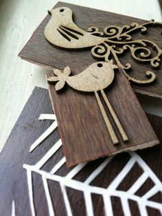 DIY stamp - scrapbooking wood embelishments mounted on a block of wood Crafts To Do, Wood Crafts, Arts And Crafts, Diy Crafts, Stamp Printing, Screen Printing, Block Printing Designs, Clay Stamps, Stamp Carving