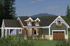 Craftsman Style House Plans - 1724 Square Foot Home , 1 Story, 3 Bedroom and 2 Bath, 2 Garage Stalls by Monster House Plans - Plan 38-508