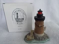 Scaasis Lighthouse Harbor of Refuge Delaware Still in Original Box 6x6 Inches