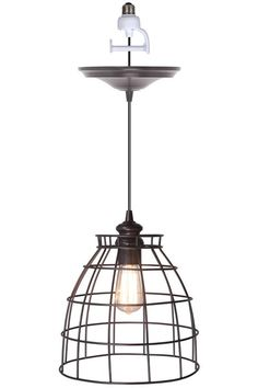 Voila! Convert any recessed light into a beautiful pendant light. $84 HomeDecorators.com