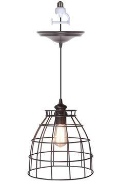 Voila! Convert any recessed light into a beautiful pendant light. $84 HomeDecorators.com