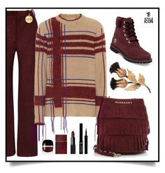 """""""Thistle/18.11.17"""" by tatjanasega ❤ liked on Polyvore featuring Acne Studios, Tory Burch, Burberry, Buccellati, Timberland, Links of London, Marc Jacobs, Elizabeth and James and Giorgio Armani"""