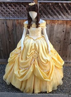 Items similar to Belle Beauty & the Beast 2013 New Park Look Princess Dress Gown Adult on Etsy Belle Cosplay, Disney Cosplay, Disney Belle Costume, Adult Disney Costumes, Disney Princess Cosplay, Cosplay Dress, Disney Princess Dresses, Disney Dresses, Disney Outfits