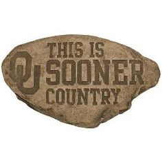 University of Oklahoma Sooners Personalized Garden Stepping Stone