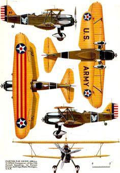 Curtiss-Wright Hawk II/III/Goshawk/P-6/F11C/BFC-2/BF2C   USA   17th PS, 1st PG, USAAC   P-6E   40