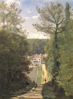 カミーユ・コロー1840ヴィル=ダヴレーのカバスュ邸-東京村内美