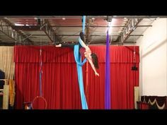 Split Entry into Knee Tangle - Aerial Silk Tutorial with Aerial Physique - YouTube