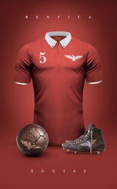 Vintage Clubs II on Behance - Emilio Sansolini - Graphic Design Poster - Benfica - Águias
