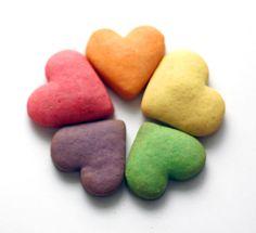 Rainbow mix instead of indivdiual rainbow cookies - shortbread