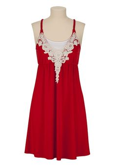 Crochet Braid Strap Dress.. Not a fan of the red one, but there is a coral and light blue that I love! : )
