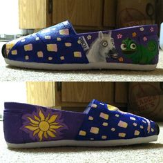 Another view of the shoes. #disney #tangled  #toms