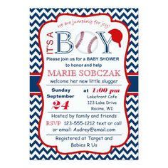 Customizable Baseball Baby Shower Invitation Invitations For Boys Sunday Personalized
