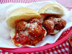 Slowcooker meatball sub sliders perfect for any party and a hit for the guys watching the game.