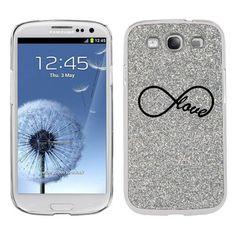 Silver Samsung Galaxy S3 SIII i9300 Glitter Bling Hard Case Cover KG119 Infinity Infinite Love Symbol by Sil, http://www.amazon.com/dp/B00DHPWHAG/ref=cm_sw_r_pi_dp_ViYzsb102TJWY