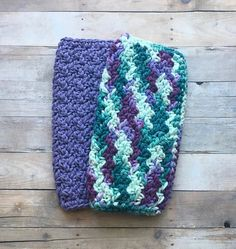 Crochet Washcloths Dishcloth Set Cotton Spa Cloths Coffee