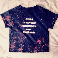 Girls Invented Punk Rock Not England Crop Grunge Custom Tee Shirt Sonic Youth on Etsy, $14.50